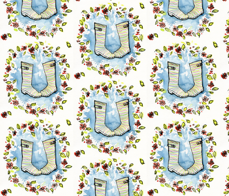 Bring on the Rain! fabric by craftynuggets on Spoonflower - custom fabric