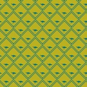 peacock in split pea soup