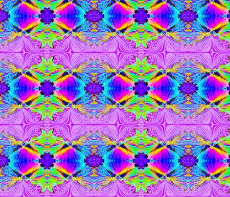 violet bearded rainbow beast fabric by wendymo on Spoonflower - custom fabric