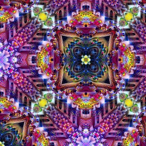 Circle Flowers 2 fabric by mugglz on Spoonflower - custom fabric