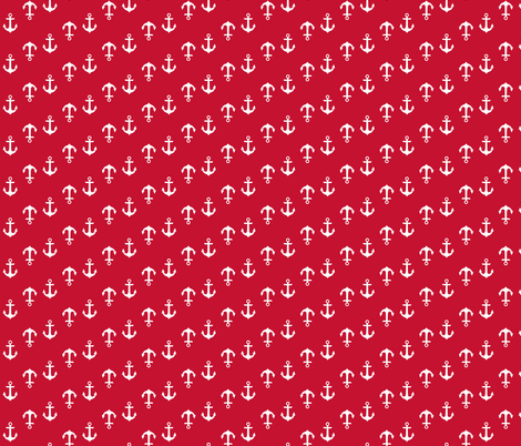 Red Anchors fabric by vintagegreenlimited on Spoonflower - custom fabric