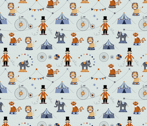 Circus fabric by la_fabriken on Spoonflower - custom fabric