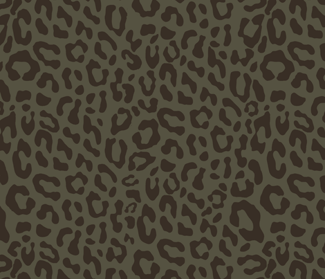 brown_leopard fabric by susiprint on Spoonflower - custom fabric