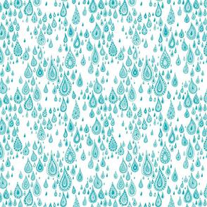 rain drops - white