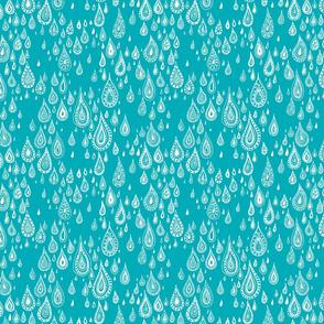 rain drops - blue