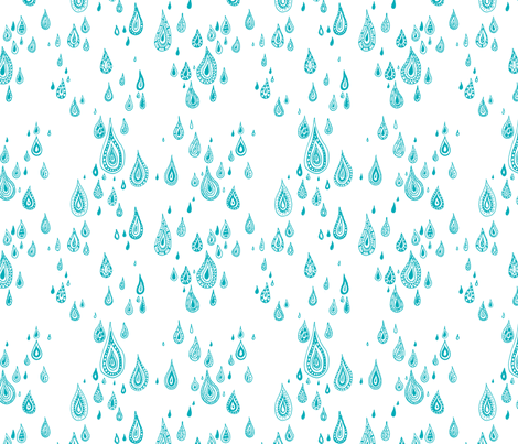 light rain - white fabric by oohoo_designs on Spoonflower - custom fabric