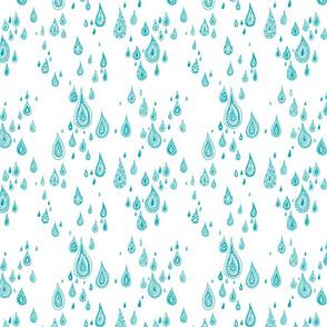 light rain - white