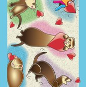 Ferrets_dance_wallpaper_border_-_blue_border_rev-01_shop_thumb