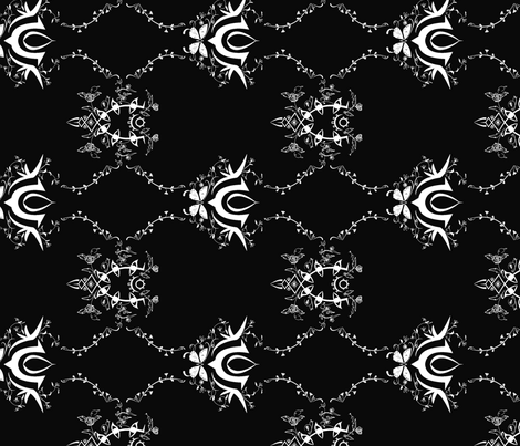 tdy- black fabric by siren on Spoonflower - custom fabric