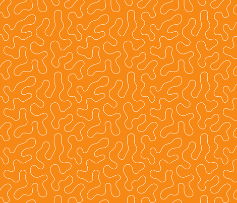 Stippling Quilt Me! Orange fabric by leah_day on Spoonflower - custom fabric