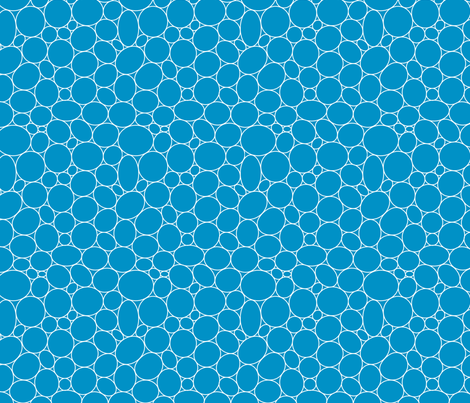 Pebbling Quilt Me! Blue fabric by leah_day on Spoonflower - custom fabric
