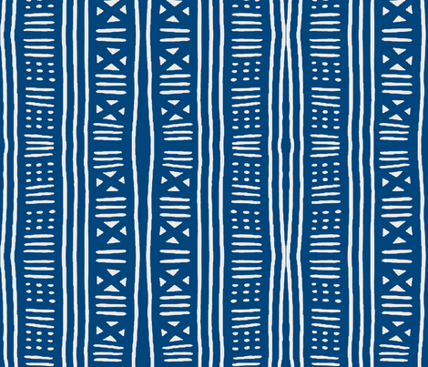Blue and white woven stripe fabric by augustacroft on Spoonflower - custom fabric
