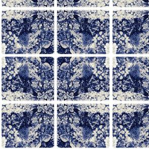 Vintage Blue Violets Tile