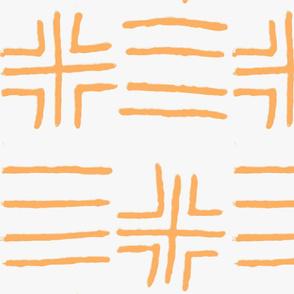mud cloth orange