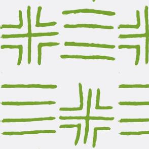 mud cloth green
