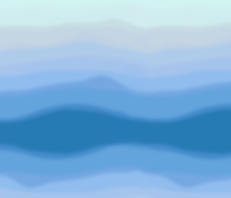 Blue Waves fabric by cellesria on Spoonflower - custom fabric