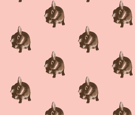 vintage ear scratch in pink fabric by kris_campau on Spoonflower - custom fabric