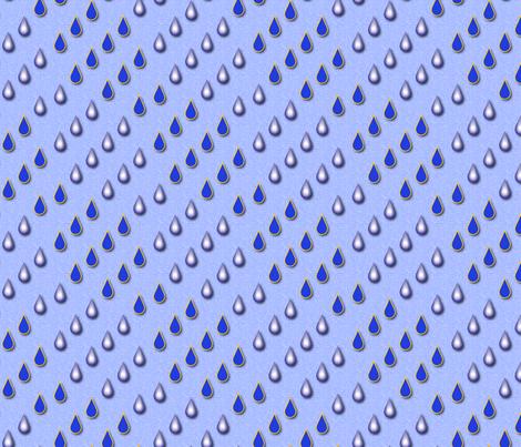Raindrops (Blue) fabric by vannina on Spoonflower - custom fabric