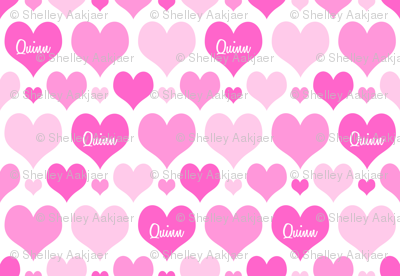 Personalised Heart Design - Pinks