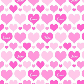 Personalised Heart Design - Pinks