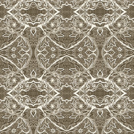 Lace and Stars fabric by edsel2084 on Spoonflower - custom fabric