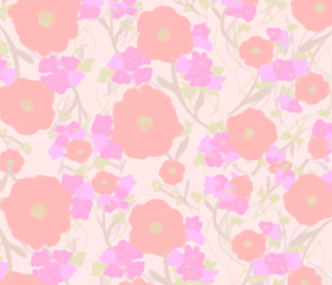 Spring Flowers fabric by cellesria on Spoonflower - custom fabric