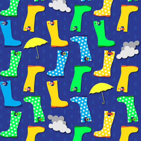 Glorious Galoshes fabric by illustrative_images on Spoonflower - custom fabric