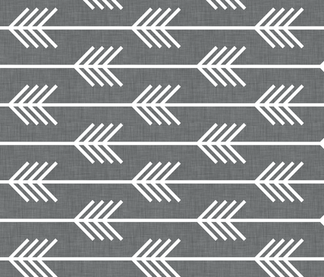 arrows_gray_horizontal fabric by holli_zollinger on Spoonflower - custom fabric