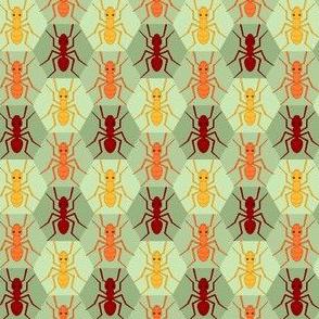 ant 1x 3 hex : khaki limestone green