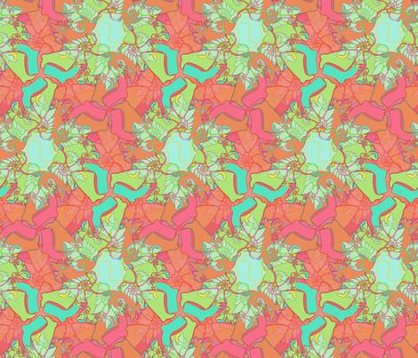 Psyche-wellie - cayenne fabric by elramsay on Spoonflower - custom fabric