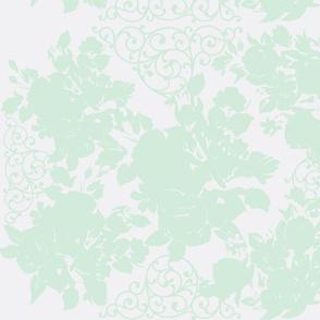 Dove Gray and Mint Green Garden Trellis-ch