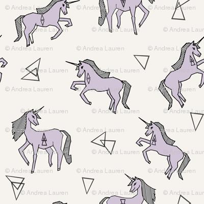 unicorn // girls unicorn purple pastel small mini lavender unicorn fabric print for girls