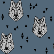 wolf // wolves boys room fabric decor animals animal head wild animals