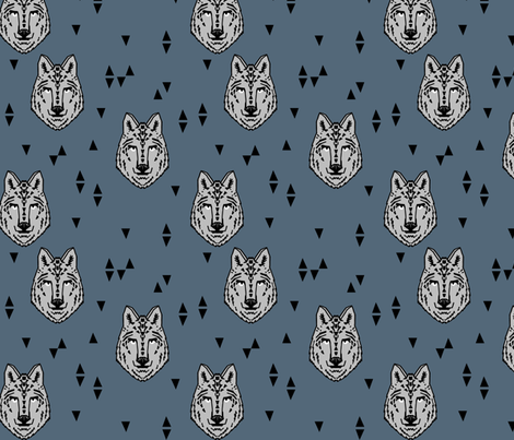 wolf // wolves boys room fabric decor animals animal head wild animals fabric by andrea_lauren on Spoonflower - custom fabric