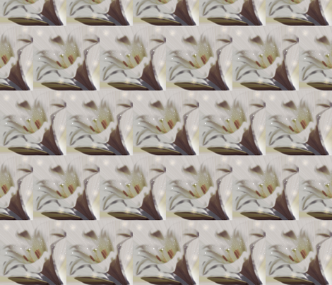 Faded Lily fabric by seedtosalad on Spoonflower - custom fabric