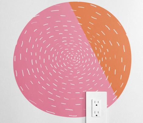 Mod Pink Flower by Friztin
