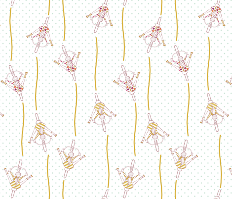 Girls Biking fabric by mrshervi on Spoonflower - custom fabric