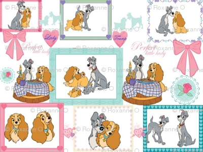 Lady And The Tramp Fabric Roxey Spoonflower
