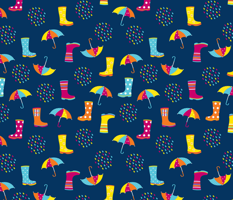 wellies_and_rain_2_contest fabric by erika_ees on Spoonflower - custom fabric