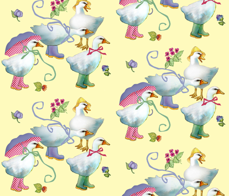 goose boots fabric by golders on Spoonflower - custom fabric