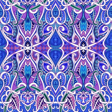 A Mid Summer Night's Scheme fabric by edsel2084 on Spoonflower - custom fabric