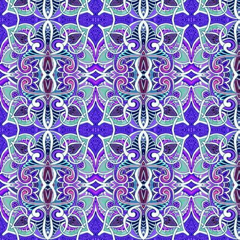 Midnight on the Lily Pond fabric by edsel2084 on Spoonflower - custom fabric