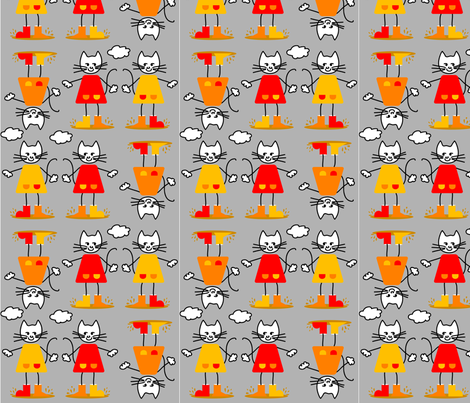 jumping_up_and_down_in_muddy_puddles fabric by renateandtheanthouse on Spoonflower - custom fabric