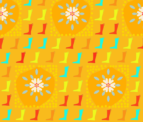 april showers fabric by lbehrendtdesigns on Spoonflower - custom fabric