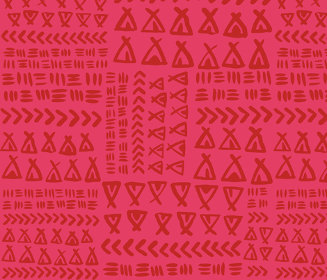 TeePee Texture// Pink and Maroon fabric by tonia_dee on Spoonflower - custom fabric