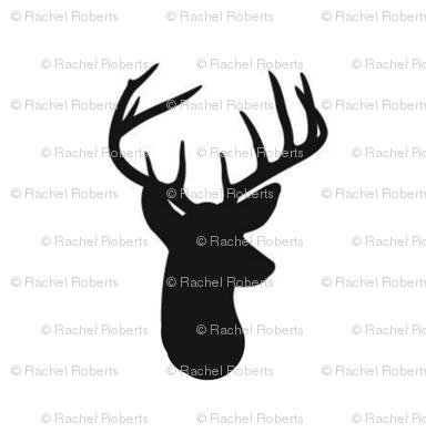 Black Deer on Whtie