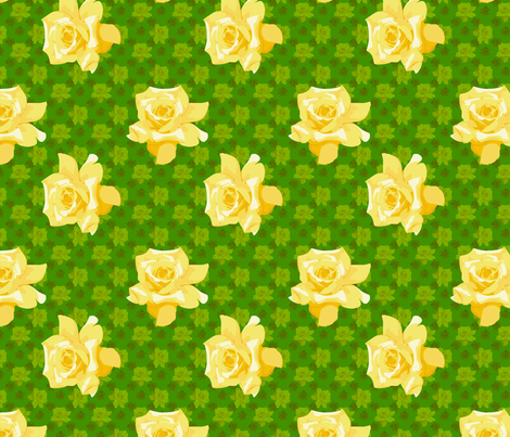 yellow roses fabric by hannafate on Spoonflower - custom fabric