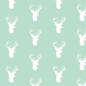 Deer Heads on Mint