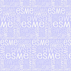 Personalised Name Design - Pale Lavender