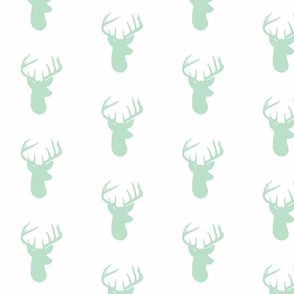 Mint Deer on White